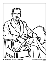 Herbert Hoover Coloring Page