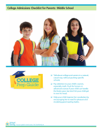 College Prep Checklist for Parents: Middle School