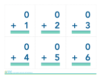 Math Flash Cards: Simple Addition (without answers)