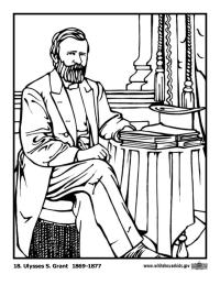 Ulysses S. Grant Coloring Page