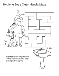 Hygiene Boy's Clean Hands: Maze