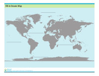 Fill-In World Oceans Map