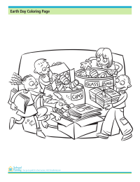 Earth Day Coloring Page: Recycling