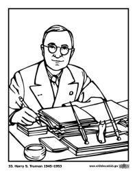 Harry S. Truman Coloring Page
