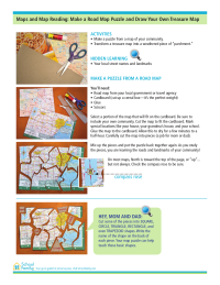 Make a Road Map Puzzle and Draw Your Own Treasure Map