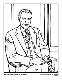 Gerald R. Ford Coloring Page