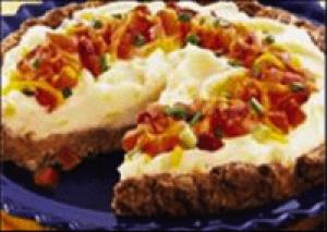 Bacon-Cheeseburger Potato Pie