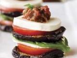 Eggplant Caprese Stack