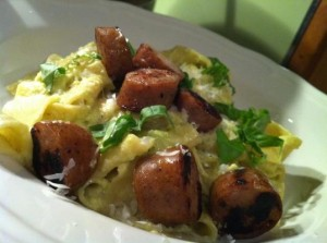 Lemony Pasta With Sweet Sausage