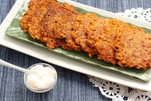 Sweet Potato and Ginger Latkes